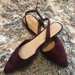 Forever 21 Flats Size 9 Burgundy Women's Shoes